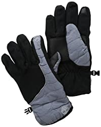 Timberland Men's Fleece Soft Shell Glove with Touch Screen Technology, Gray, Large