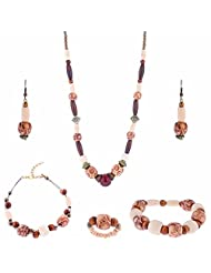 ARC 5 Piece Wooden Combo Jewellery Set (01212051)