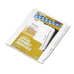 Kleer-Fax 80000 Series Legal Exhibit Index Dividers, Side Tab, Printed \