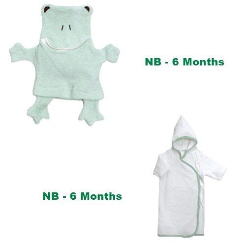 Frog Wash Cloth and Hooded Kimono Set - 1