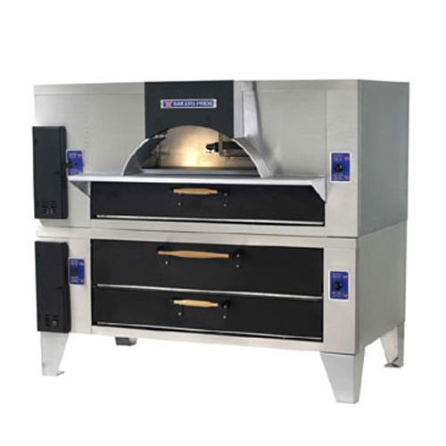 Bakers Pride IL Forno Classico Old World Fired Brick Double Deck Gas Oven with D Single Deck Oven, 65 1/4 x 43 x 74 inch -- 1 each.