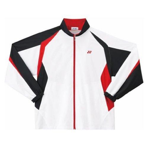 Yonex(ヨネックス) ユニ 裏地付ウォームアップシャツ ホワイト/レッド 114 M 52000