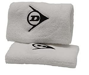 Buy Dunlop Double Wristband (White, 5-Inch) by Dunlop Sports