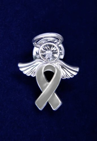 Gray Ribbon Pin - Angel Tac (36 Pins)
