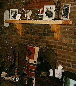 Carved Rustic Wood Mantel Shelf for Fireplace - - Amazon.com
