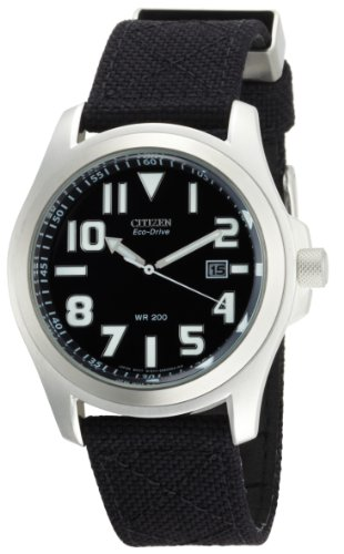Citizen Men's BM6400-00E Eco-Drive Canvas Watch