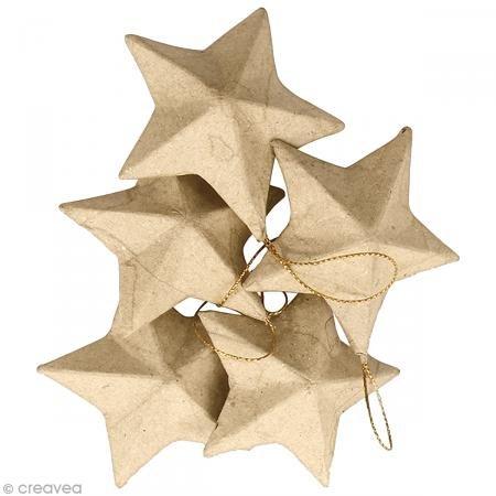 decopatch-no009o-stars-figurine-pack-of-5-mache-brown