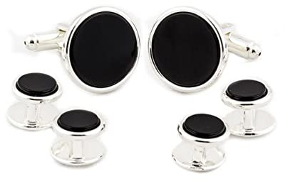 Cuff-Daddy Sterling Silver Plated Formal Set Cuff Links