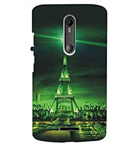 PrintDhaba Tower D-5421 Back Case Cover for MOTOROLA MOTO X3 (Multi-Coloured)