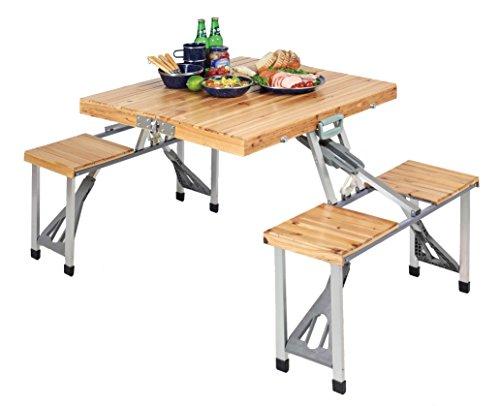 キャプテンスタッグ 杉製ピクニックテーブル
