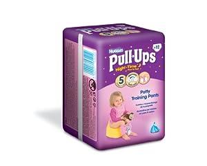 Huggies Night-Time Pull-Ups Disney Princess Design Nappies - Girls' Size 5/Medium (24-50 lbs/11-22 kg), 3 x Packs of 12 (36 Pants)