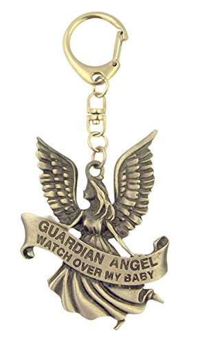 Pewter Guardian Angel Watch Over My Baby Medal on Clip, 3 Inch (Jesus Clip compare prices)