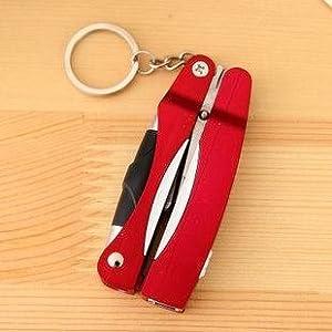4 - en-1 de la cadena dominante y Tijeras y bolígrafo y Rojo