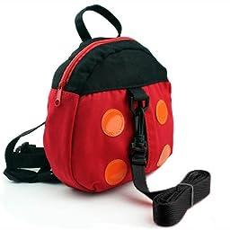 HuntGold Ladybug Style Kid Child Toddler Safety Harness Backpack Bag Lead Strap Knapsack(Lead Strap: Random Color)