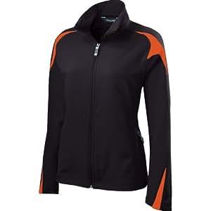 Holloway Womens Illusion Jacket (Small, Black/orange)
