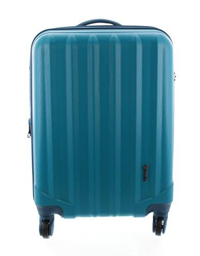 100-ABS-Hartschalen-Koffer-Trolley-mit-4-Rollen-und-Zahlenschloss-Pianeta-Serie-Ibiza-XL-75cm-Blau
