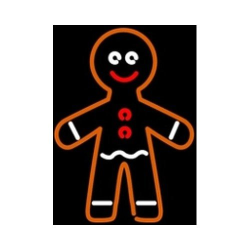 Gingerbread Man Neon Sculpture Lamp Sign 16' (Bread Lamp compare prices)