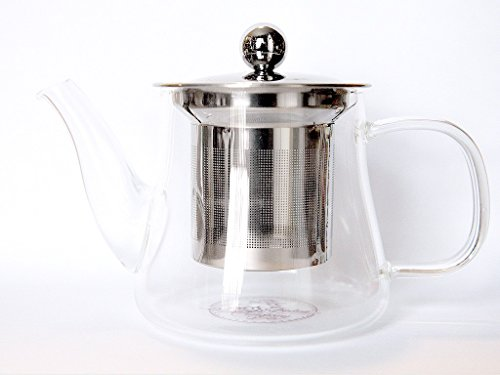 Sale!! Glass Tea Pot for One Cup with Stainless Steel Loose Leaf Tea Infuser Use with Brew Tea Kettl...