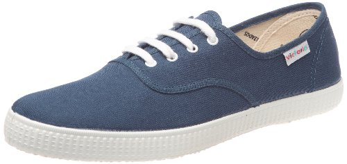 Calego - Sneaker Inglesa Lona, Unisex adulto, Blu (Bleu (Petroleo)), 37
