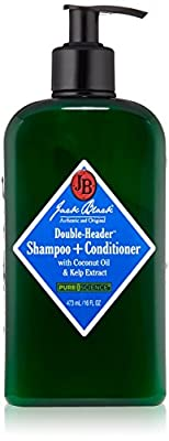 Jack Black Double Header Shampoo Plus Conditioner, 16 fl.oz.