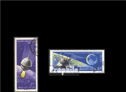 Ungarn 2218A-2219A (kompl.Ausg.) gestempelt 1966 Landung Luna 9 auf dem Mond (Briefmarken für Sammler)