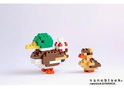 nanoblockポストカード(カモ)バースデー