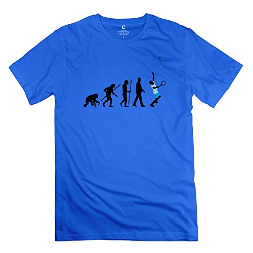 Ywt Evolution Tennis Spieler Mens Clothing Unique Funny Royalblue