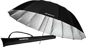 Westcott Parasol parabolique 2,2 m Argenté