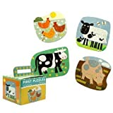 First Puzzle: Barnyard: Four Shaped Puzzles-four Pieces Each