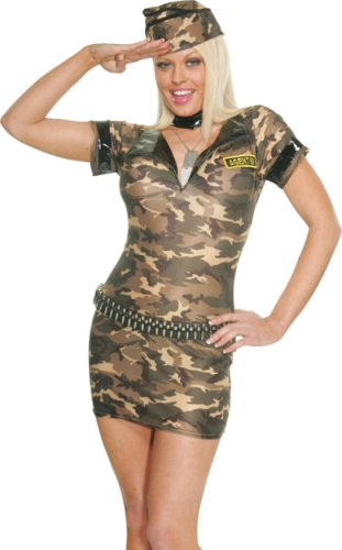 Women's Sexy Army Girl Costume (Size: Large 10-14)