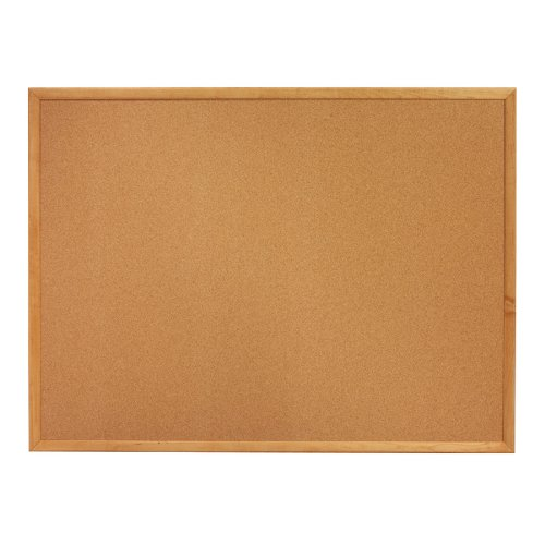 Quartet Cork Bulletin Boards, 3 x 2 Feet, Oak Finish Frame (303)
