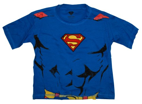 Superman DC Comics Embroidered Logo Muscle Chest Costume Toddler T-Shirt Tee