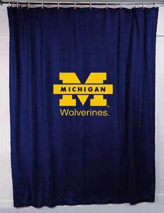 Ncaa Michigan Wolverines Shower Curtain front-71299
