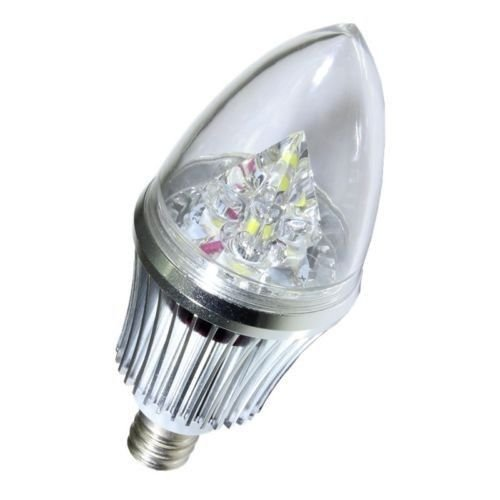 Amerlight Led 4W White E14 Base Candelabra Light Bulb Lamp 110V