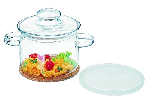 Simax Glassware 530/6073 Gourmet Pot With Cork Coaster, 2-Quart