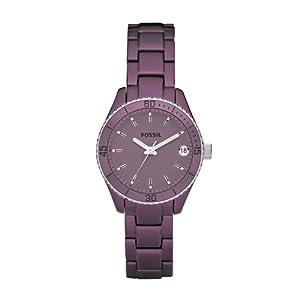 Fossil Herren-Armbanduhr Analog Aluminium violett ES2903