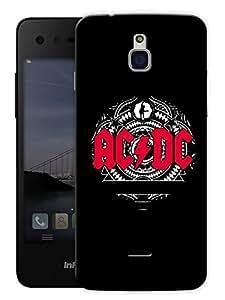 "Ac Dc Rocks Printed Designer Mobile Back Cover For ""Google Infocus M350"" By Humor Gang (3D, Matte Finish, Premium Quality, Protective Snap On Slim Hard Phone Case, Multi Color)"