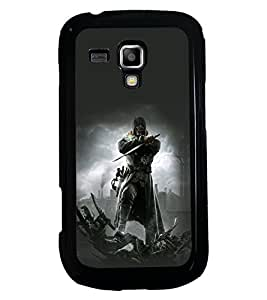 PRINTSWAG WARRIOR Designer Back Cover Case for SAMSUNG GALAXY S DUOS S7562