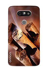 Omnam Burning Cigar Printed Designer Back Cover Case For LG G5