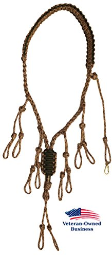 Best Review Of Duck Call Lanyard - Secures 5 Calls - Premium Hand Braided Camo 550 Paracord - Best f...