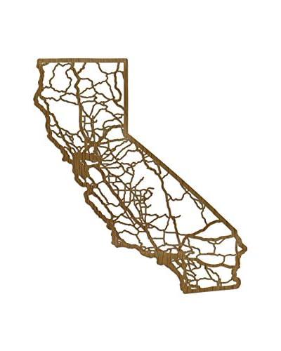Cut Maps Wooden California Map