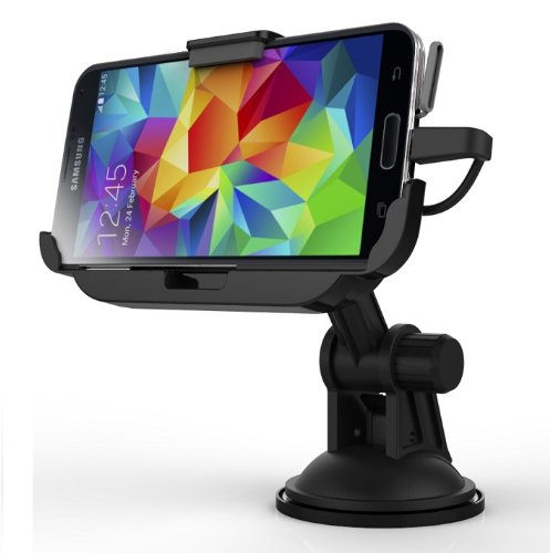 Samsung Galaxy S5 Encased Car Mount Dock With Built In Charger - Windshield & Dashboard