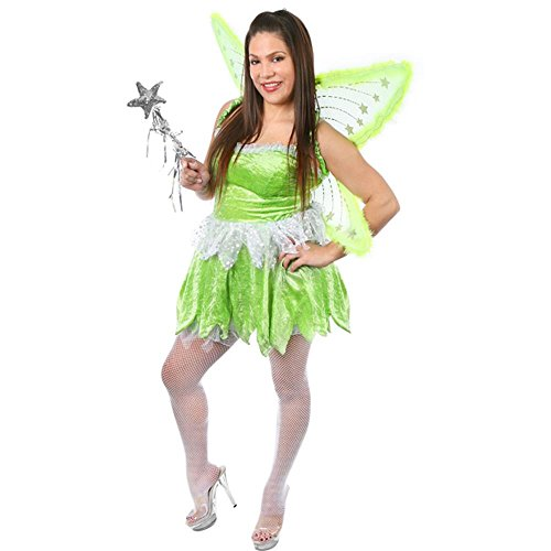 Adult Sexy Pixie Fairy Costume (Size: Large 8-10)