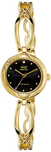 Q&Q Samurai Analog Black Dial Women's Watch - P315-002Y