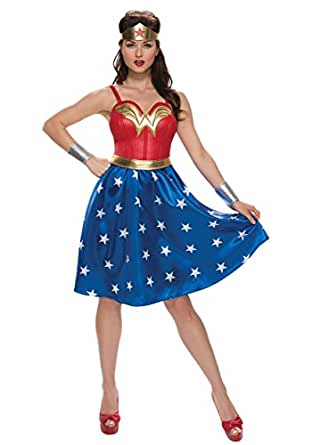 Rubies Costume Co. Inc womens Adult Deluxe Long Dress Wonder Woman Costume