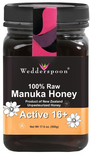 Wedderspoon Raw Organically Certified New Zealand Manuka Honey Active 16 plus -- 17.6 oz