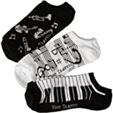 Womens Music Ankle Socks 3-Pack
