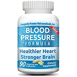 Longevity Blood Pressure Formula [New Formula!] - Clinically proven - 15+ standardized herbal extracts - 90 capsules