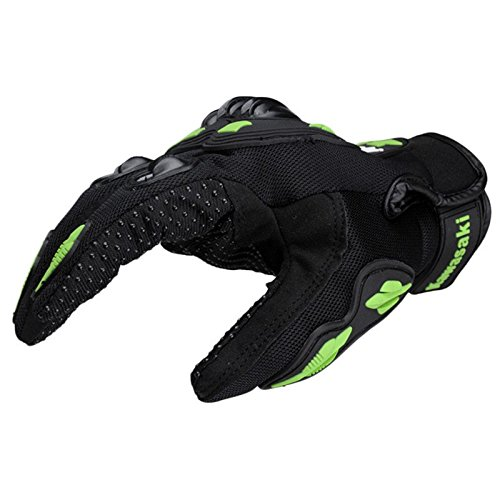 Kawasaki Motorcycle gloves retro Moto racing gloves Motocross full finger gloves Cycling glove M L XL XXL (M: 8-8.5 cm) 4