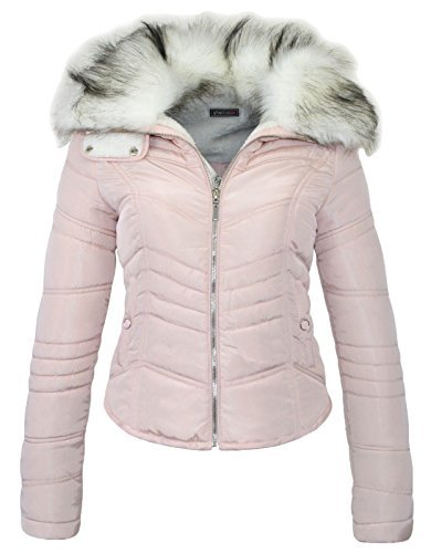 womens-quilted-padded-fleece-lined-thick-winter-bubble-faux-fur-collar-puffer-jacket-coat-jkt9200-pi